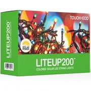 Touch of ECO Liteup 200 Solar String Lights; Multi Colored