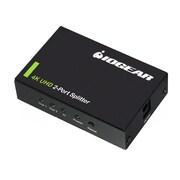 Iogear® GHSP8422 4K 2-Port HDMI Splitter, Black
