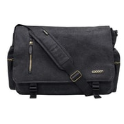 Cocoon Urban Adventure Black Canvas Laptop Messenger (MMB2704BK)