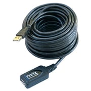 Plugable® 16' USB 2.0 Active Extension Cable, Male/Female, Black (USB2-5M)