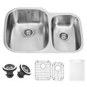 Vigo 30 inch Undermount 70/30 Double Bowl 18 Gauge Stainless Steel Kitchen Sink; Yes