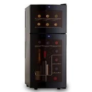Wine Enthusiast Companies Silent Series 21 Bottle Dual Zone Free Standing Wine Refrigerator