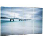 DesignArt Metal 'Industrial Pier Side View' Photographic Print