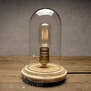 Westmen Lights Vintage Cottage Wood Bedside 9.05'' Table Lamp