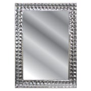 Fetco Home Decor Lomas Shiny Textured Framed Mirror