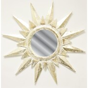 Fetco Home Decor Chancy Flake Sun Mirror