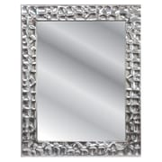 Fetco Home Decor Lima Metal Patterned Mirror