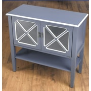 AA Importing 2 Door Cabinet with Shelf; Blue/White