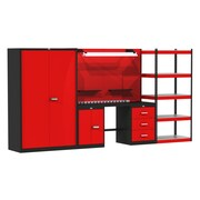 Hallowell Fort Knox Mixed Storage Modular Steel Top Storage System; 78'' H x 168'' W x 24'' D