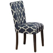 HomePop Geo Brights Parsons Chair (Set of 2); Navy Blue
