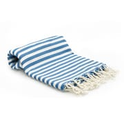 Buldano Turkish Peshtemal Fouta Bath Towel; Blue