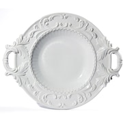 Intrada Baroque Round Bowl w/ Handles; White