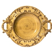 Intrada Baroque Round Bowl w/ Handles; Honey