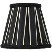 Home Concept 5'' Classics Brass Drum Lamp Shade; Black / Eggshell