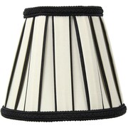 Home Concept 5'' Classics Brass Drum Lamp Shade; Eggshell / Black
