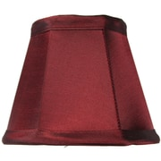 Home Concept 5'' Classics Brass Empire Lamp Shade; Chameleon Burgundy
