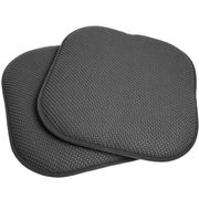 Sweet Home Collection Chair Cushion (Set of 2); Gray