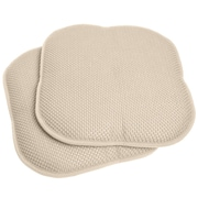 Sweet Home Collection Chair Cushion (Set of 2); Linen