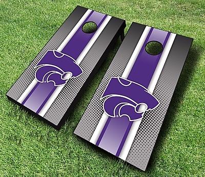 AJJCornhole NCAA 10 Piece Striped Cornhole Set; Kansas State Wildcats WYF078278601612