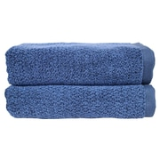 Fabbrica Home Diamond Jacquard Performance Core Bath Towel (Set of 2); Navy Blue