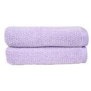 Fabbrica Home Everplush Diamond Jacquard Performance Core 2 Piece Towel Set (Set of 2); Lavender