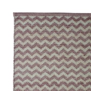 Cozy Home and Bath Hand Woven Pale Lilac Area Rug; 5' x 8'