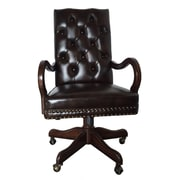EasternLegends High-Back Leather Executive Chair; Brown