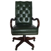 EasternLegends High-Back Leather Executive Chair; Green