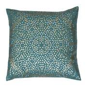 Thro Anu Foil Dot Throw Pillow; Turquoise