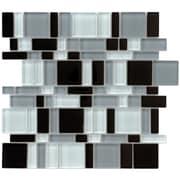 EliteTile Sierra 11.75'' x 11.75'' Glass Mosaic Tile in Magic Night