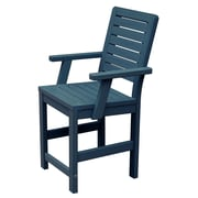 Highwood USA Weatherly 24'' Bar Stool; Nantucket Blue