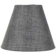 Home Concept 6'' Classics Brass Empire Lamp Shade; Granite Gray