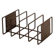 Seville Classics Perforated Cutting Board and Bakeware Organizer; Bronze