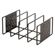Seville Classics Perforated Cutting Board and Bakeware Organizer; Gun Metal