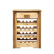 Montana Woodworks  Homestead 16 Bottle Floor Wine Rack; Stained and Lacquered