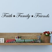 DecaltheWalls Faith, Family, Friends Wall Decal