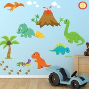 DecaltheWalls Dinosaur World Fabric Printed Wall Decal