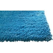 KAS Rugs Bliss Highlighter Blue Area Rug; Round 6'
