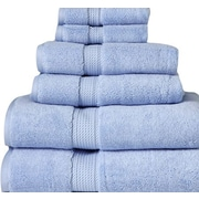 Cathay Home, Inc Luxe Pure Egyptian Cotton 6 Piece Towel Set; Baby Blue