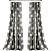 Lush Decor Ovation Window Curtain Panel (Set of 2); Gray