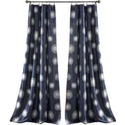 Lush Decor Ovation Window Curtain Panel (Set of 2); Navy