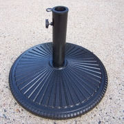 Oakland Living Heavy Duty Cast Iron Multi-use Umbrella Stand; Black