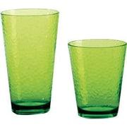 Certified International 12 Piece Hammered Drinkware Set; Lime Green
