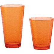 Certified International 12 Piece Hammered Drinkware Set; Orange