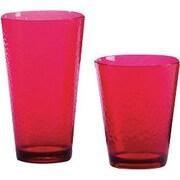 Certified International 12 Piece Hammered Drinkware Set; Ruby