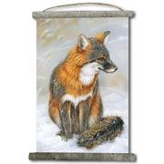WGI GALLERY 'Gray Fox' Painting Print on White Canvas