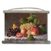 WGI GALLERY 'Grapes' Painting Print on White Canvas