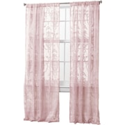 Lush Decor Anya Light-filtering Window Curtain Panel (Set of 2); Pink