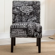 Roundhill Furniture Capa Fabric Side Chair; Chalkboard Shadow