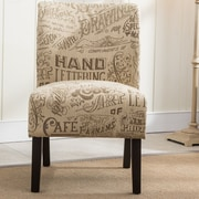 Roundhill Furniture Capa Fabric Side Chair; Chalkboard Light